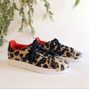 J Crew Adidas Superstar Cheetah Sneakers
